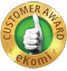 Awarded the eKomi Gold Seal of Approval - 4.8 out of 5
