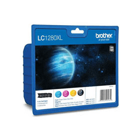 Brother Lc1280xl Original High Capacity Black Colour Ink Cartridge 4 Pack Lc1280xlvalbp