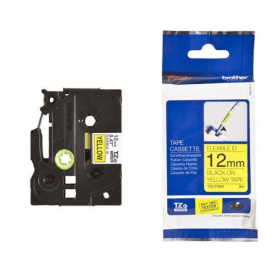 Click to view product details and reviews for Brother Tze Fx631 Original P Touch Black On Yellow Flexible Id Laminated Tape 12mm X 8m.