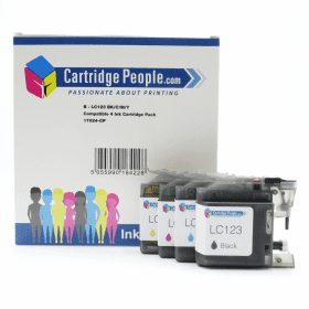 Compatible Brother Lc123 Black Colour Ink Cartridge 4 Pack Own Brand