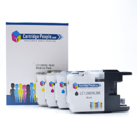 Click to view product details and reviews for Compatible Brother Lc1280xl High Capacity Black Colour Ink Cartridge 4 Pack Own Brand.