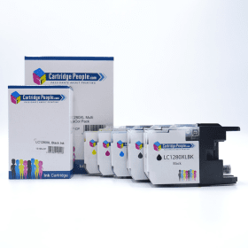 Click to view product details and reviews for Compatible Brother Lc1280xl High Capacity Black Colour Ink Cartridge 5 Pack Own Brand.