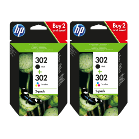 Click to view product details and reviews for Hp 302 Original Black And Colour Ink Cartridge 4 Pack.