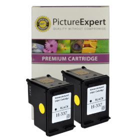 HP 337 ( C9364ee ) Compatible Black Ink Cartridge Twinpack
