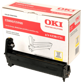 Click to view product details and reviews for Oki 43381721 Original Yellow Drum Unit.