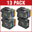 Brother LC1280XL Bk C M Y Compatible Black Colour 13 Ink Cartridge Pack Special Buy