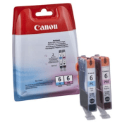 Canon BCI 6 PC PM Original Photo Cyan and Photo Magenta Ink Cartridge Pack