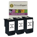 Canon PG 510 Compatible Black Ink Cartridge x 3 Special Offer