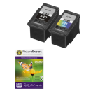 Canon PG 540 CL 541 Compatible Black Colour Ink Cartridge 2 Pack Photo Paper Special Buy