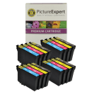 Epson T1295 Compatible Black Colour Ink Cartridge 16 Pack