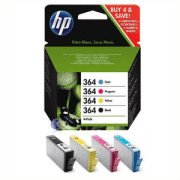 HP 364 J3M82AE SD534EE Original Black and Colour 4 Ink Cartridge Pack