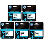 HP 364 Original Black and Colour 5 Ink Cartridge Pack B C M Y PBK