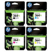 HP 364XL Original Black and Colour 4 High Capacity Ink Cartridge 4 Pack