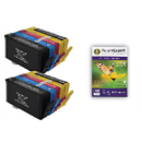 HP 364xl Compatible High Capacity Black Colour 10 Ink Cartridge Pack 50 Sheets 240g 4 x6 Photo Paper New Chip