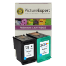 HP C8765ee 338 C8766EE 343 Compatible Black Colour Ink Cartridge Pack