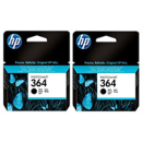 HP CB316EE 364 Original Black Ink Cartridge Twinpack