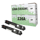 HP CE310A 126A TWINPACK of Black Compatible Toner Cartridges