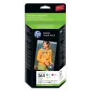 HP CH082EE 364 Original Colour Ink Cartridges C M Y 85 Sheets 250g 10x15cm Glossy Photo Paper
