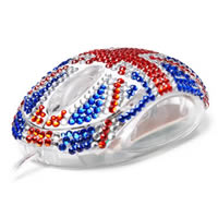Diamante Union Flag Mouse