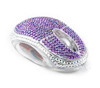 Diamante Mouse Purple