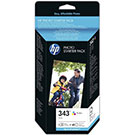 HP Q7948EE 343 Ink Cartridge + 60 shts 240g Gloss Paper