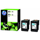 HP 301XL (D8J45AE) Original Black High Capacity Ink Cartridge Twinpack