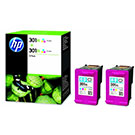 HP 301XL (D8J46AE) Original Colour High Capacity Ink Cartridge Twinpack