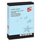 5 Star A4 80gsm Blue Coloured Office Copier Paper (500 Sheets)