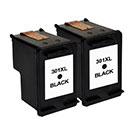 HP 301XL High Capacity Compatible Black ** TWIN PACK DEAL ** Ink Cartridges