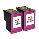 HP 301XL High Capacity Compatible Colour ** TWIN PACK DEAL ** Ink Cartridges