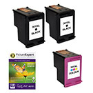 "HP High Capacity 301xl Compatible Black x 2 & 301xl Compatible Colour x 1 Ink Cartridges + 50 Sheets 240g 4""x6"" Photo Paper"