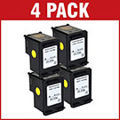 HP 336 / C9362EE Compatible Black Ink Cartridge x 4