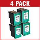 HP 343 / C8766EE Compatible Colour Ink Cartridge x 4