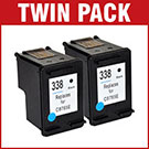HP 338 / C8765EE Compatible Black Ink Cartridge **Twin Pack Deal**